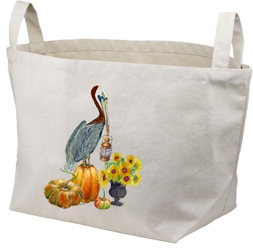 Pelican Pumpkins Canvas Basket
