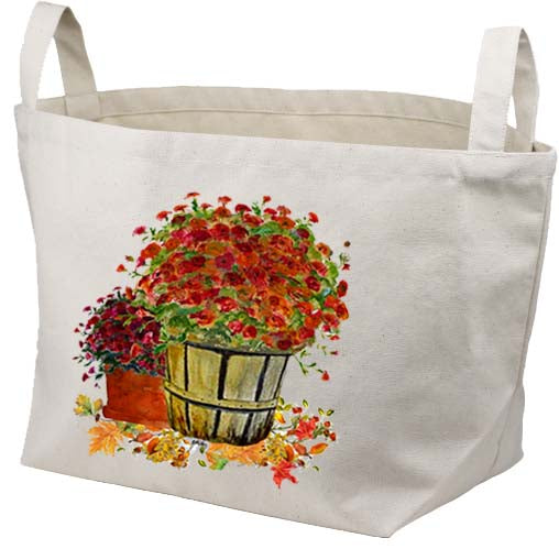 Mums in Basket Canvas Basket