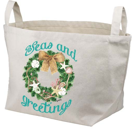 Florida Wreath-Seas & Greetings Canvas Basket
