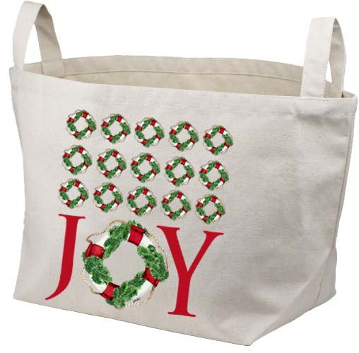 Joy Life Ring Repeat Canvas Basket