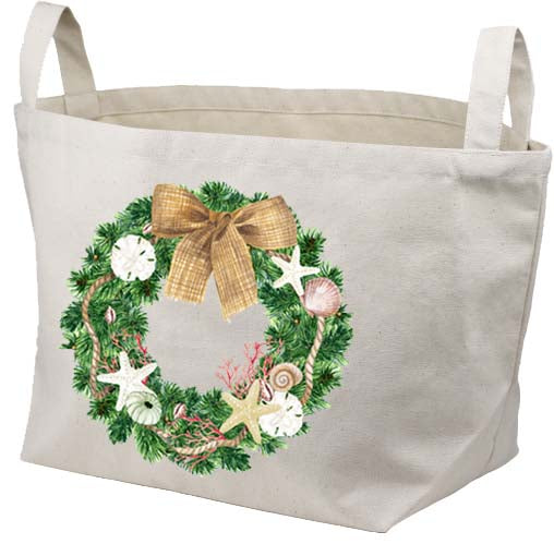 Florida Wreath Canvas Basket