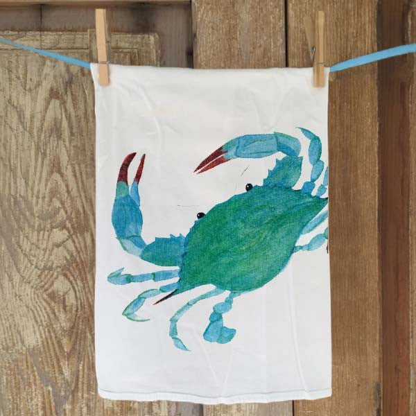 Blue Crab Flour Sack Towel