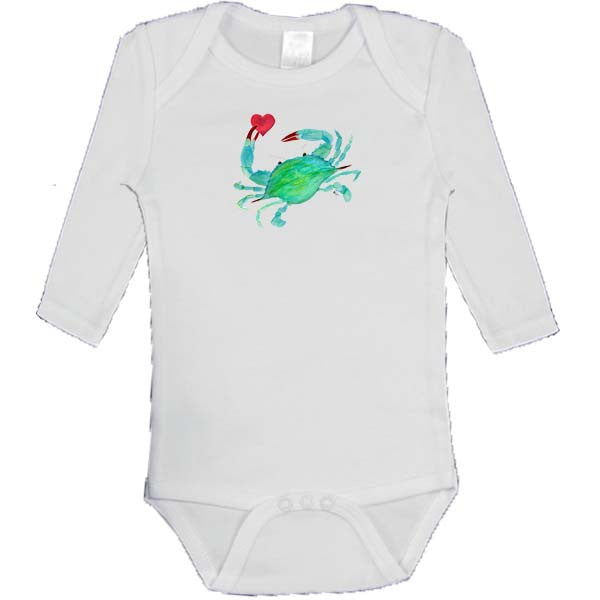 Crab with Heart Onesie