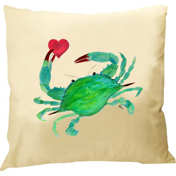 Crab with Heart Pillow