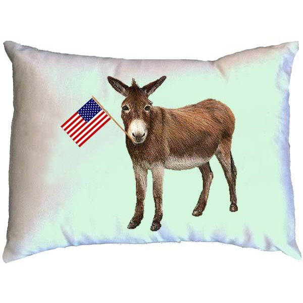 Donkey with Flag Pillow