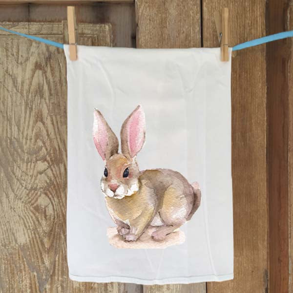 Little Brown Bunny Flour Sack Towel