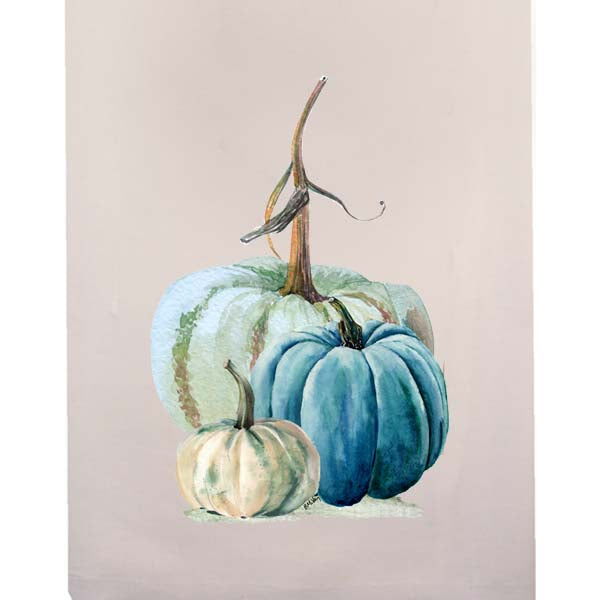 Blue-Green Pumpkin Fingertip Towel