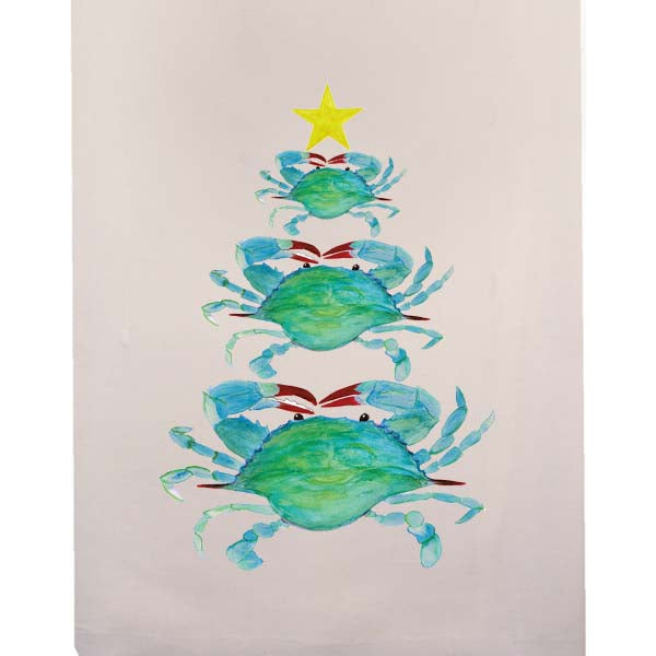 Crab Christmas Tree Fingertip Towel
