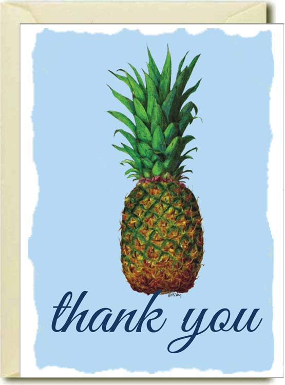 Thank You-Pineapple Boxed Note Cards