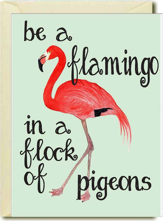Be A Flamingo Boxed Note Cards