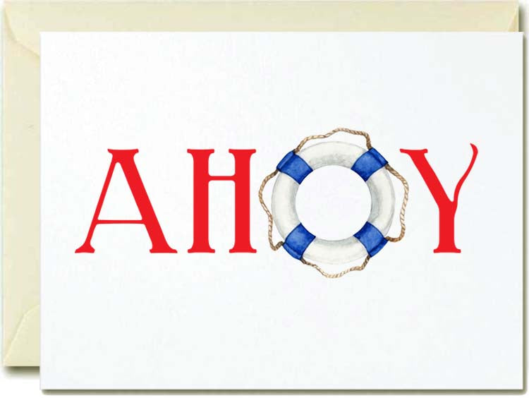 Ahoy Boxed Note Cards
