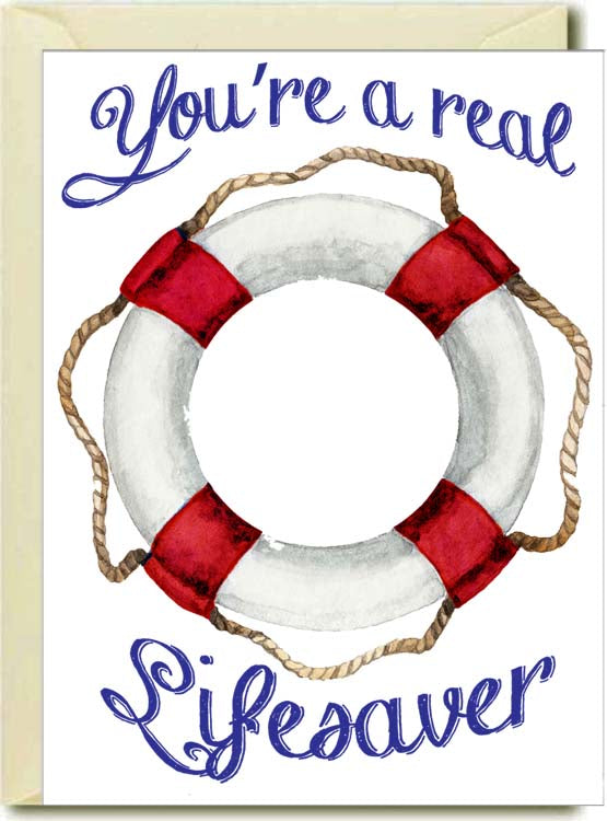 You're A Lifesaver Boxed Note Cards