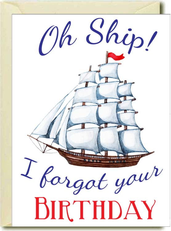 Oh Ship-Forgot Your Birthday Boxed Note Cards