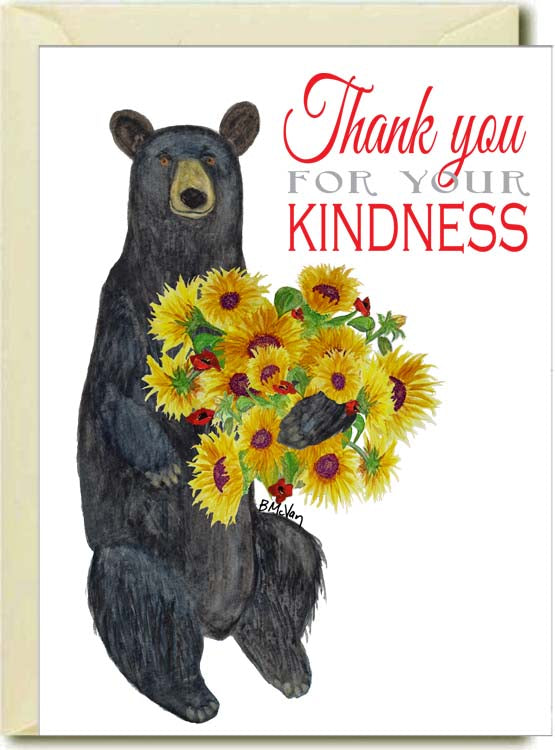 Thank You for Your Kindness Bear Boxed Note Cards