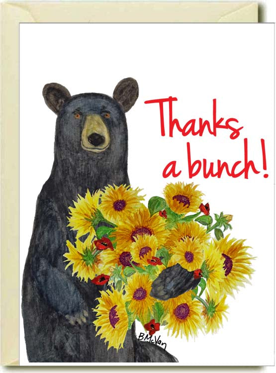Thanks A Bunch Bear Boxed Note Cards