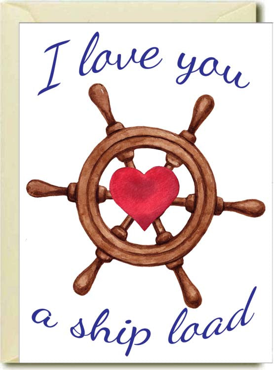I Love You A Ship Load Boxed Note Cards