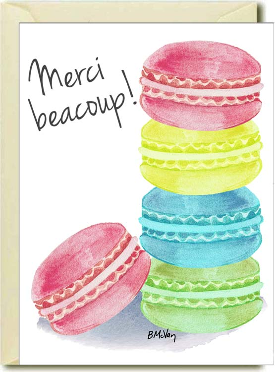Merci Beacoup Boxed Note Cards