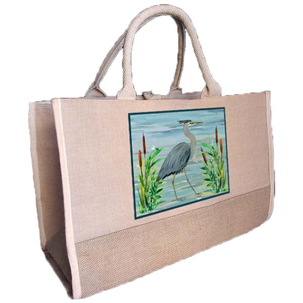 Heron in Grasses Two Tone Tote