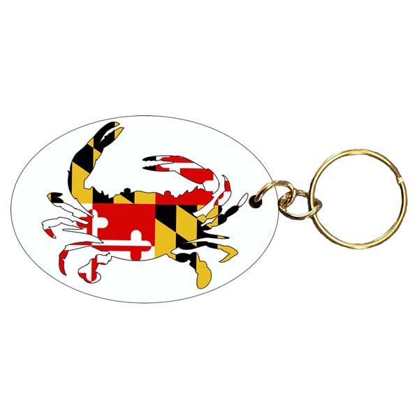 Maryland Flag Crab Keychain