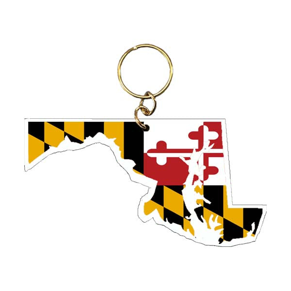 Maryland Flag Maryland Shape Keychain
