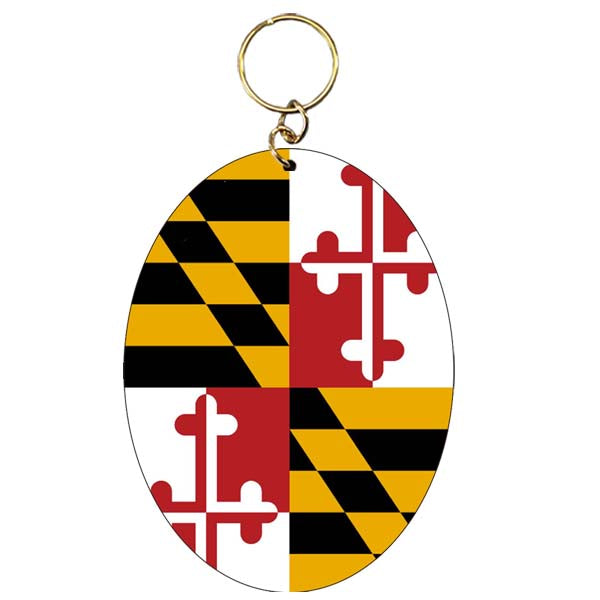 Maryland Flag Oval Keychain