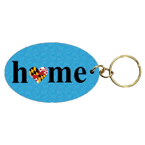 MD Flag Heart- Home Keychain
