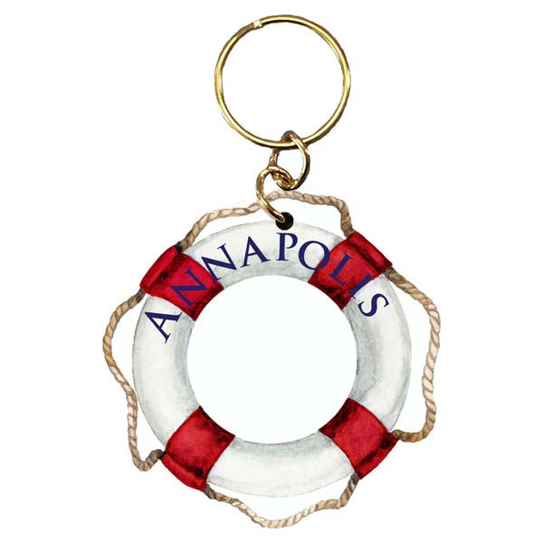 Red Life Preserver- Annapolis Keychain