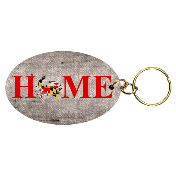 MD Flag Crab- Home Keychain