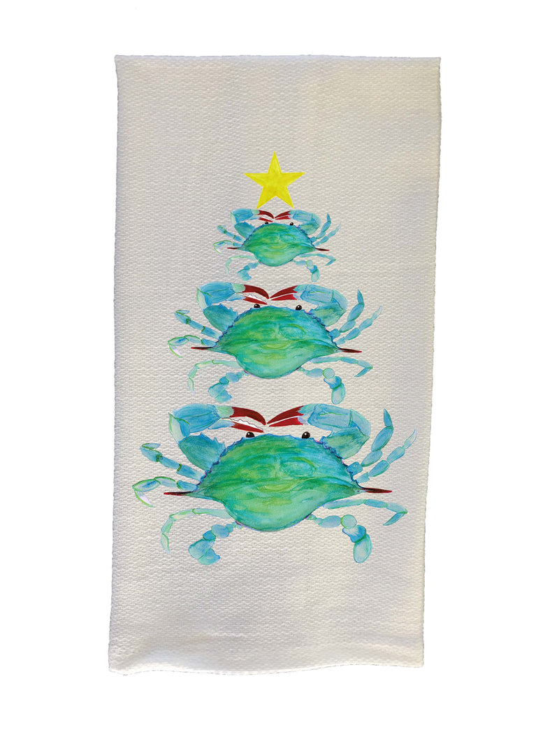Crab Christmas Tree Kitchen Towel – B McVan Designs