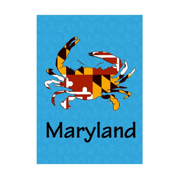 Maryland Flag Crab Blue-Maryland Garden Flag