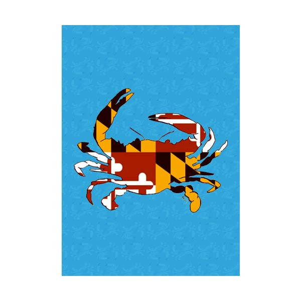 Maryland Flag Crab Blue Garden Flag