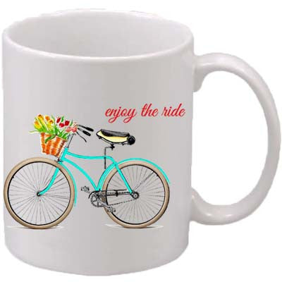 Teal Bike - Enjoy the Ride Classic Mug