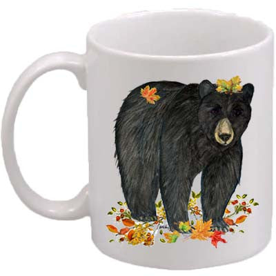 Black Bear Leaves Classic Mug