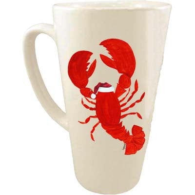 Lobster Santa Hat Latte Mug