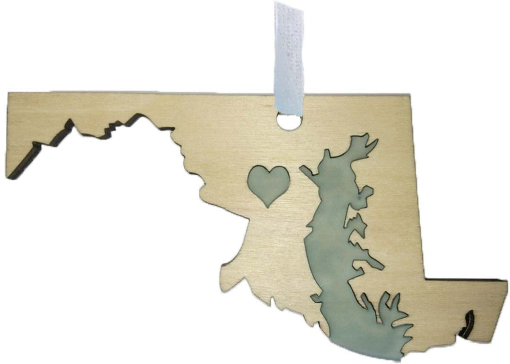 Maryland Wood Ornament