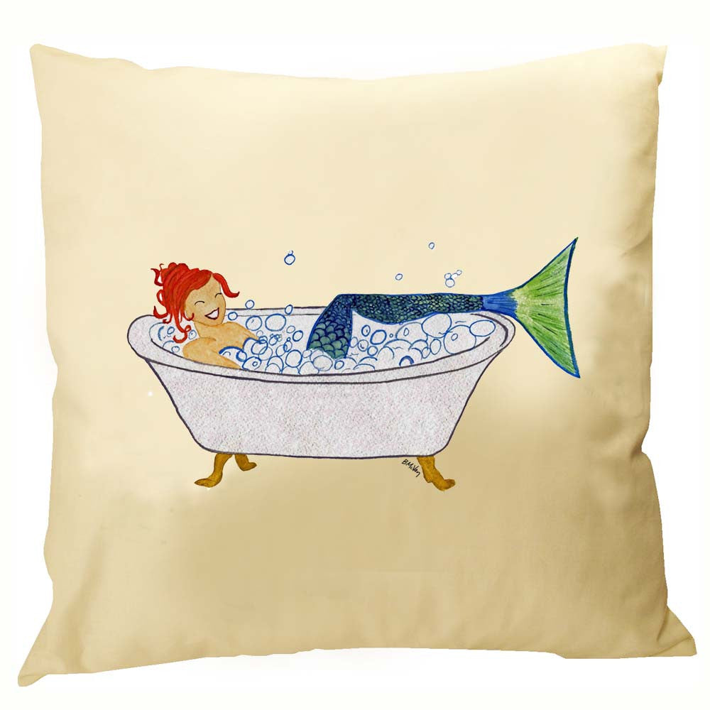 Mermaid in Tub Pillow