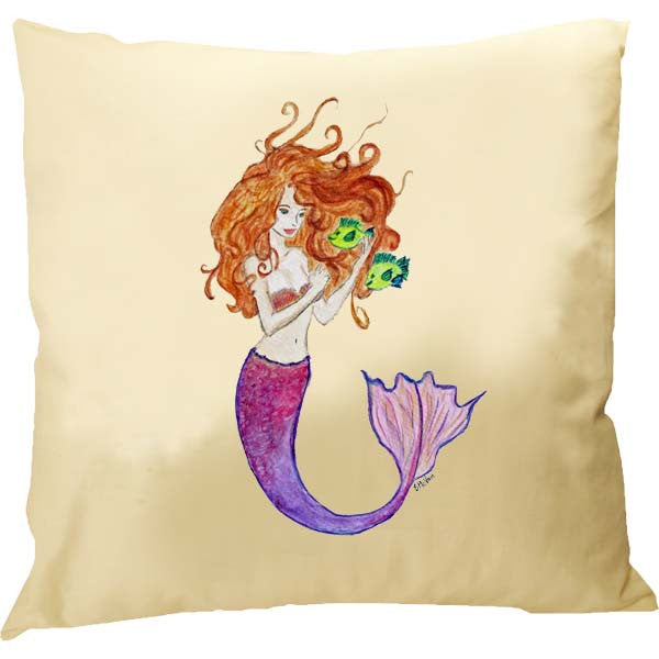 Mermaid with Fish Pillow