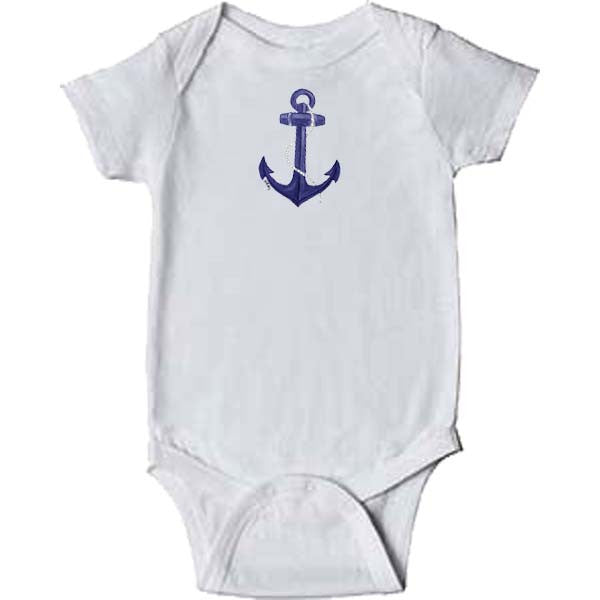 Blue Anchor Onesie