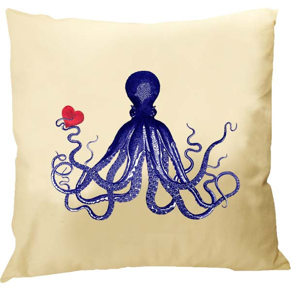 Octopus with Heart Pillow