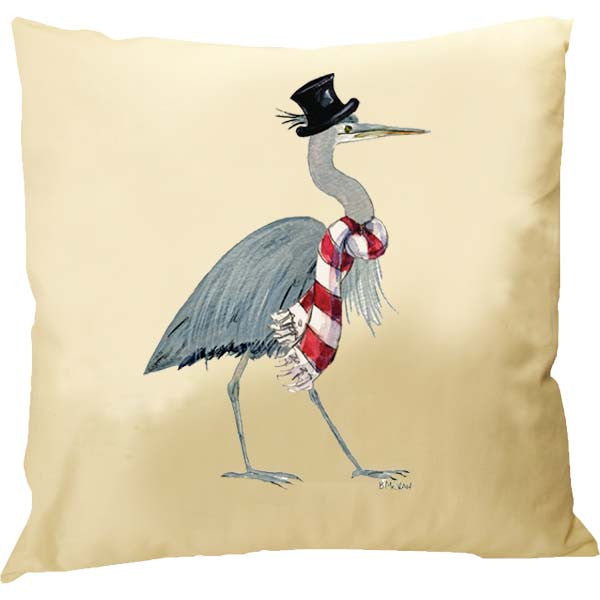 Heron Top Hat Pillow