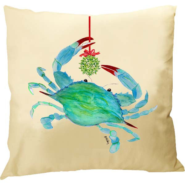 Crab Kissing Ball Pillow