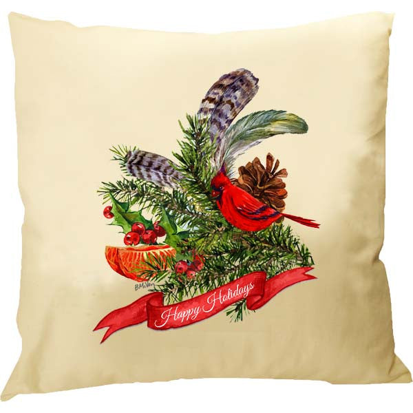 Cardinal Collage Pillow