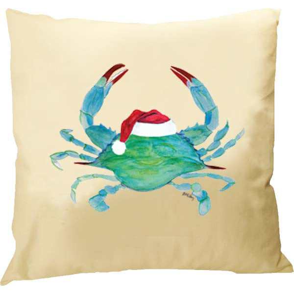 Crab Santa Hat Pillow