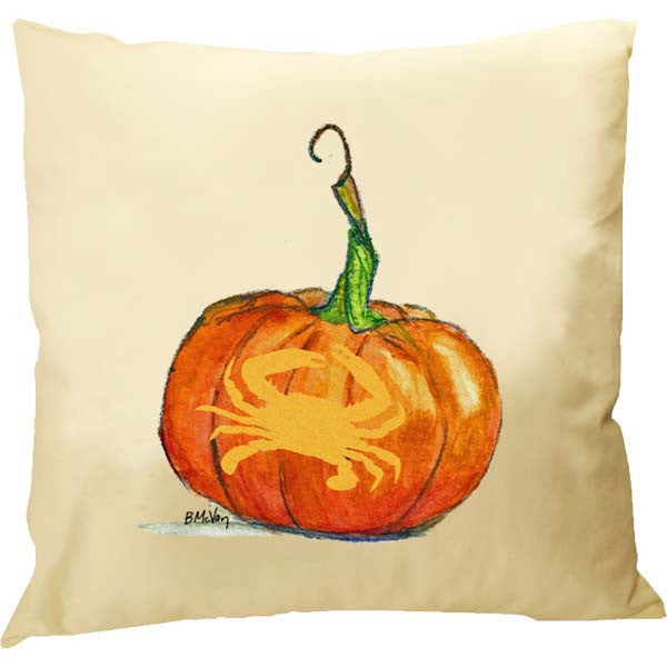 Crab Carved Pumpkin Pillow