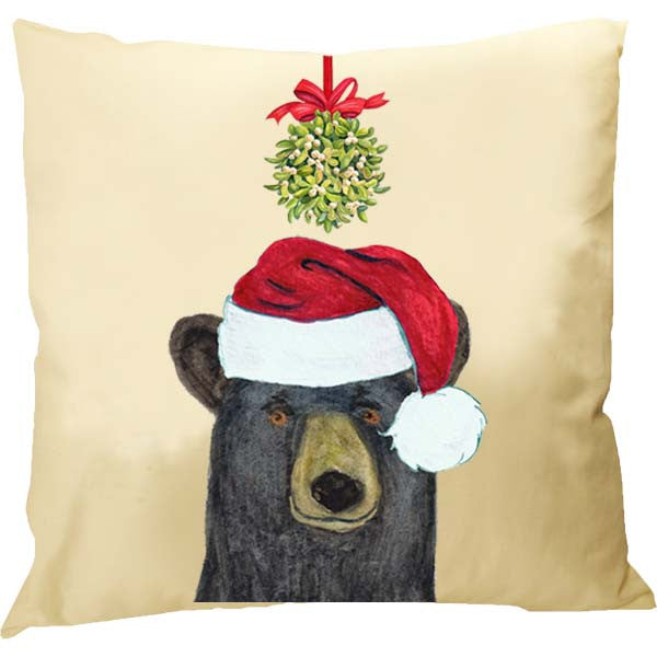 Black Bear Kissing Ball Pillow