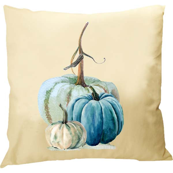 Blue-Green Pumpkins Pillow