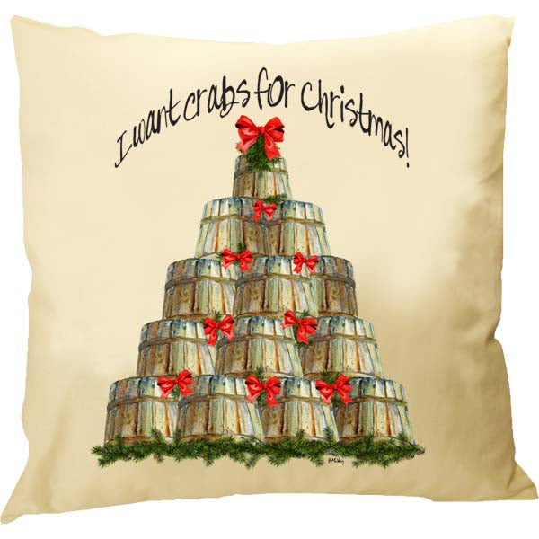 Crabs For Christmas Pillow