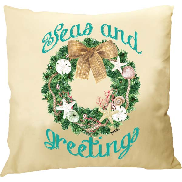 Florida Wreath-Seas & Greetings Pillow