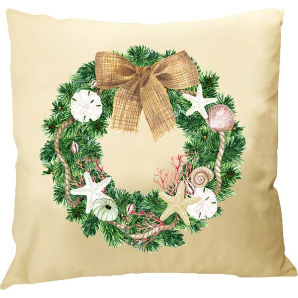 Florida Wreath Pillow