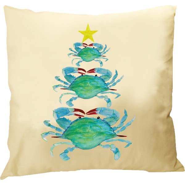 Crab Christmas Tree Pillow